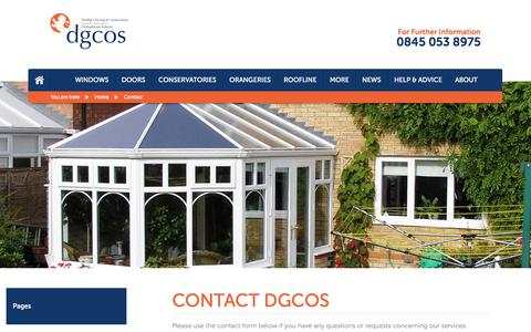 Screenshot of Contact Page dgcos.org.uk - Contact DGCOS - Email, Phone & Address - captured Nov. 3, 2014