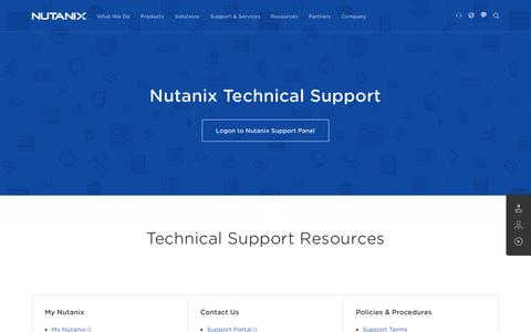 Screenshot of Support Page nutanix.com - Nutanix Technical Support - Nutanix - captured June 16, 2015