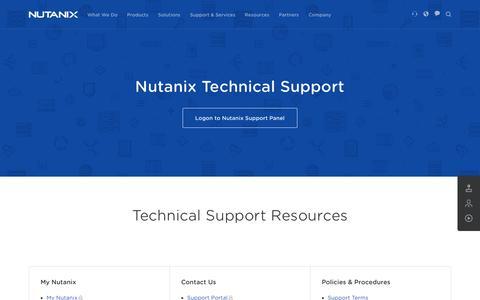 Screenshot of Support Page nutanix.com - Nutanix Technical Support - Nutanix - captured June 16, 2015