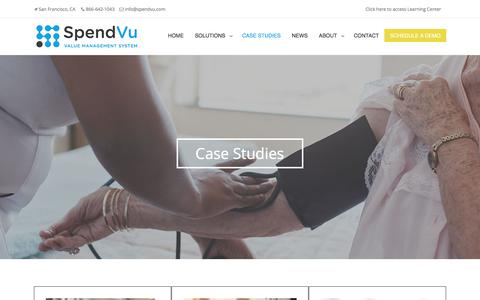 Screenshot of Case Studies Page spendvu.com - SpendVu | Case-Studies - captured June 15, 2017