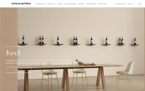 Screenshot of Home Page viccarbe.com - Viccarbe – Contemporary design furniture company for home and contract. - captured Oct. 19, 2018