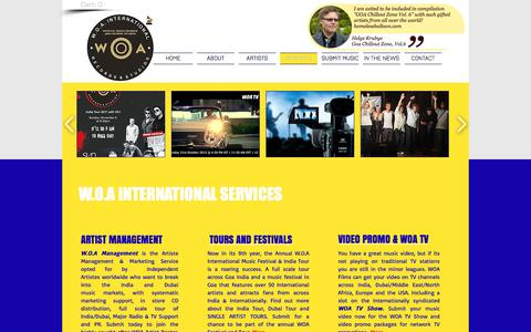 Screenshot of Services Page woarecords.com - WOA International Record Label Services - captured Dec. 3, 2016
