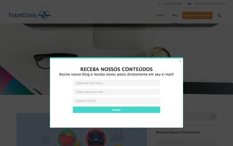 Screenshot of Blog totalclinic.com.br - Blog – TotalClinic - captured Oct. 25, 2017