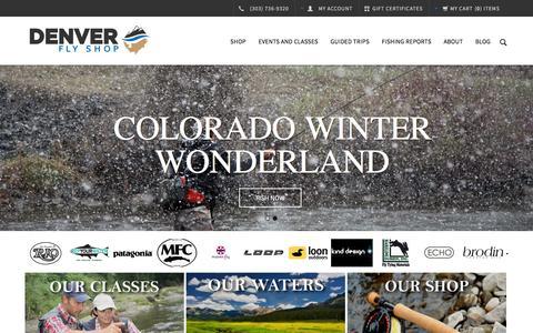 Screenshot of Home Page denverflyshop.com - Denver Fly Shop - captured Feb. 18, 2016