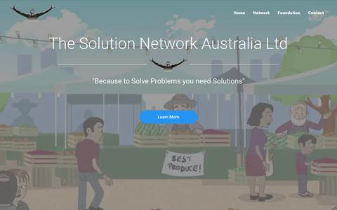 Screenshot of Home Page solutions.org.au - Home | Solutions - captured Oct. 15, 2018
