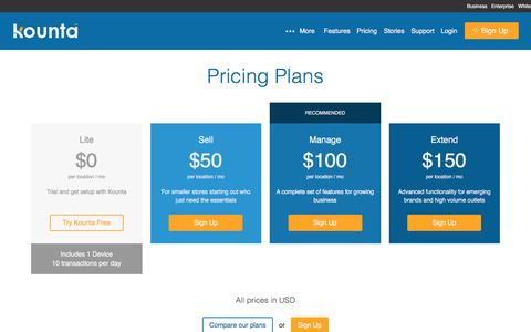 Pricing Plans - Kounta