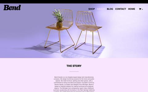 Screenshot of About Page bendgoods.com - We Dream, We Make – Bend Store - captured Oct. 10, 2017