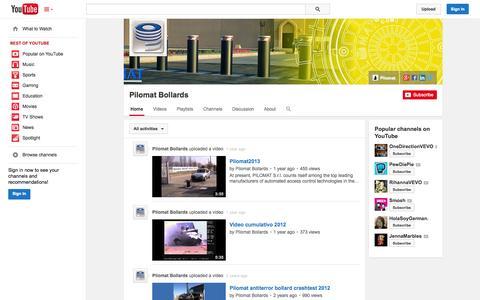 Screenshot of YouTube Page youtube.com - Pilomat Bollards  - YouTube - captured Oct. 22, 2014