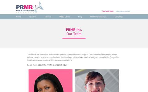 Screenshot of Team Page prmrinc.net - Our Team | PRMR Inc. - captured July 14, 2018
