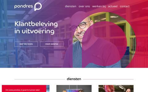 Screenshot of Home Page pondres.nl - Pondres - captured July 20, 2018