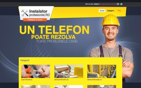 Screenshot of Home Page instalator-profesionist.ro - Instalator Profesionist | - captured Sept. 17, 2015