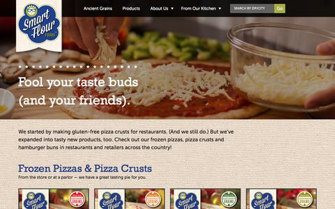 Screenshot of Products Page smartflourfoods.com - Products  | Smart Flour Foods - captured Sept. 20, 2018