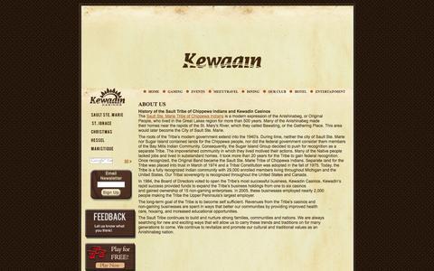 Screenshot of About Page kewadin.com - Kewadin - About Us - captured Oct. 6, 2014
