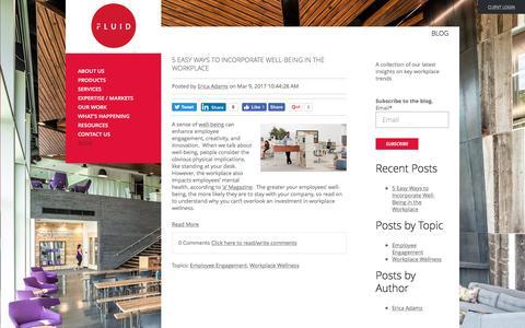 Screenshot of Blog fluidinteriors.com - Blog | Fluid Interiors - captured June 6, 2017