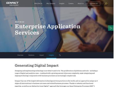 Screenshot of Services Page genpact.com - Enterprise Application Services | Application Transformation - captured May 13, 2017