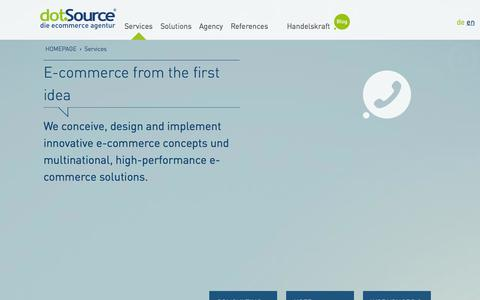 Screenshot of Services Page dotsource.com - E-commerce services | dotSource – the ecommerce agency - captured Sept. 22, 2014
