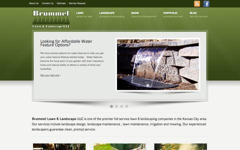 Screenshot of Home Page brummellawn.com - Brummel Lawn & Landscape LLC - captured Oct. 5, 2014