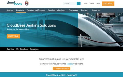 Screenshot of Products Page cloudbees.com - CloudBees Jenkins Solutions | CloudBees - captured May 9, 2017