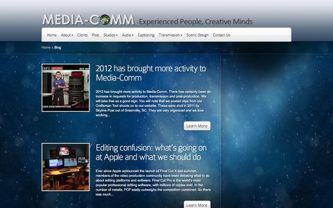 Screenshot of Blog media-comm.com - Blog Archives - Media-Comm   Media-Comm - captured Jan. 9, 2016