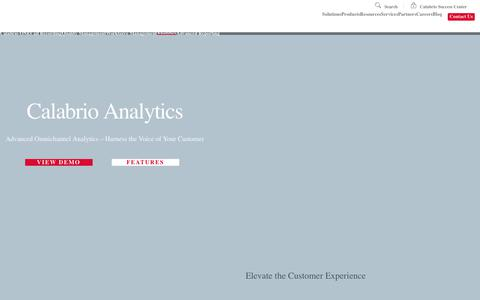Speech, Text & Desktop Analytics for the Contact Center | Calabrio ONE