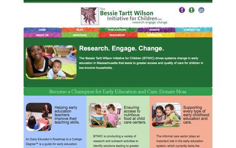 Screenshot of Blog btwic.org - HOME - Bessie Tartt Wilson Initiative for ChildrenBessie Tartt Wilson Initiative for Children - captured Oct. 5, 2014