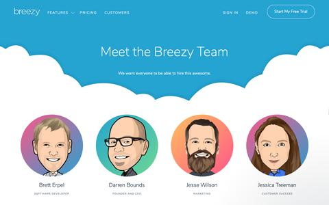 Screenshot of Team Page breezy.hr - Jessica says… - captured Jan. 29, 2019