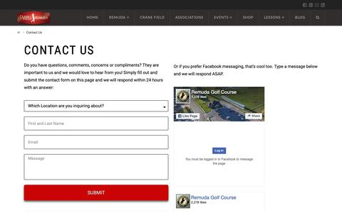 Screenshot of Contact Page remudagolf.com - Contact Us   Remuda Golf Course and Driving Range. Best Golf Course in Ogden & Layton Areas - captured Oct. 20, 2018