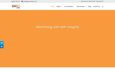 Screenshot of Home Page gingernutmedia.co.uk - Email Marketing & Lead Generation Company | Ginger Nut Media - captured Dec. 8, 2018