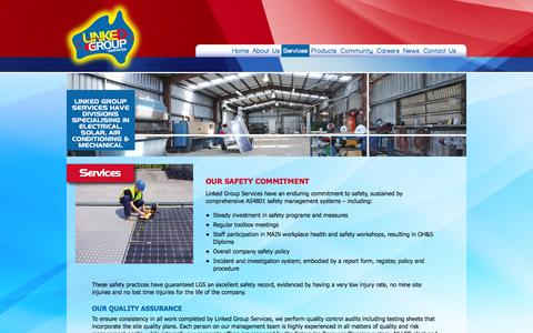 Screenshot of Services Page linked.net.au - Services | Linked Group Services - captured Oct. 8, 2014