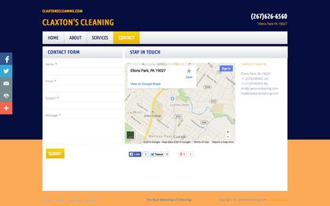 Screenshot of Privacy Page Contact Page claxtonscleaning.com - Contact - captured Oct. 22, 2014