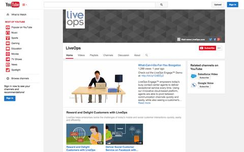 Screenshot of YouTube Page youtube.com - LiveOps  - YouTube - captured Oct. 22, 2014