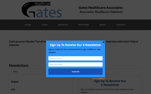 Screenshot of Press Page gateshealthcareassociates.com - News - Gates Healthcare Associates - captured Oct. 26, 2016