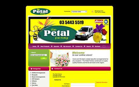 Screenshot of Contact Page thepetalfactory.com.au - Contact Us : Zen Cart!, The Art of E-commerce - captured Oct. 22, 2018