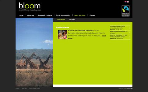 Screenshot of Press Page bloom-flowers.nl - Publications - Bloom - captured Oct. 1, 2014