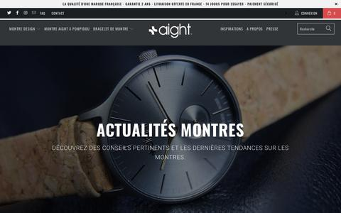Screenshot of Press Page aight-watch.com - Montres : Actualités et Conseils - Aight - captured Oct. 2, 2018