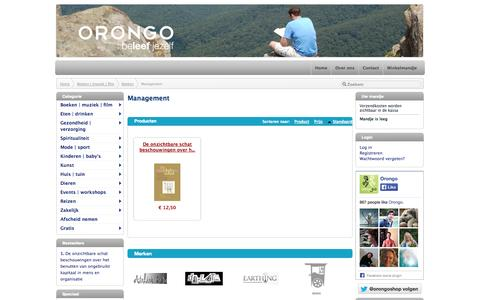 Screenshot of Team Page orongo.nl - Management - captured Oct. 7, 2014
