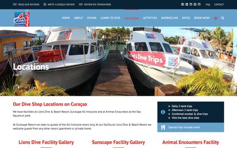 Screenshot of Locations Page oceanencounters.com - Locations - Ocean Encounters Curacao - captured Nov. 13, 2017