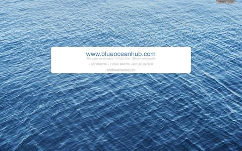 Screenshot of Home Page blueoceanhub.com - www.blueoceanhub.com - captured Oct. 5, 2014