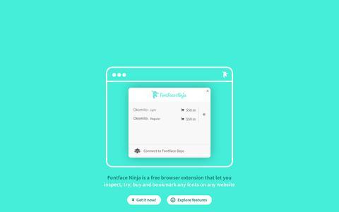 Screenshot of Home Page fontface.ninja - Fontface Ninja - captured Nov. 22, 2017
