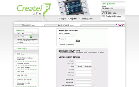 Screenshot of Login Page createlonline.com - createlonline.com : Door phone IP SIP, on bus, on mobile network, on telecom line - captured Sept. 25, 2018