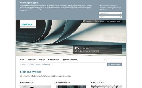 Screenshot of Press Page bsh-group.com - Siemens nyheter och berättelser | Siemens Hushållsprodukter - captured June 29, 2017