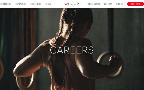 Screenshot of Jobs Page whoop.com - Careers - WHOOP - captured May 11, 2019