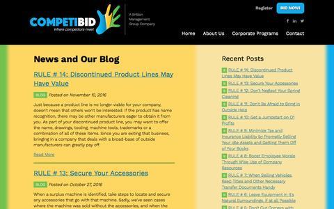 Screenshot of Press Page brittonmg.com - News and Our Blog | CompetiBid - captured Nov. 23, 2016