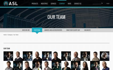 Screenshot of Team Page asl-control.co.uk - Our Team | ASL - captured Feb. 6, 2016