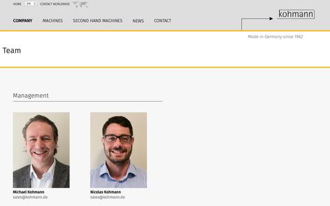 Screenshot of Team Page window-patcher.com - Team - Kohmann GmbH & Co. KG Maschinenbau - window-patcher.com - captured Nov. 15, 2018