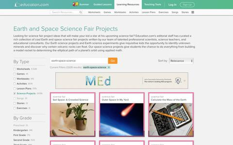 Earth Science and Space Science Projects | Education.com