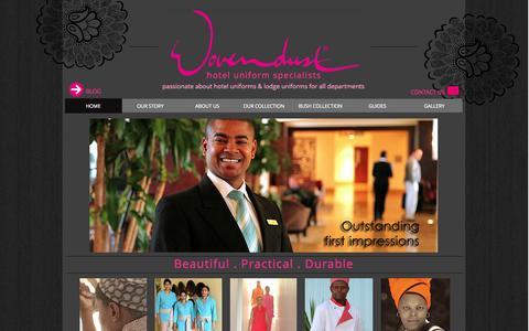 Screenshot of Home Page wovendust.com - Wovendust Uniforms - captured Oct. 6, 2014