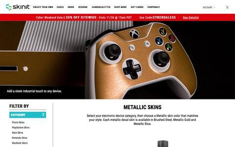 Metallic Skins | Premium Textured Device Skins - Skinit®