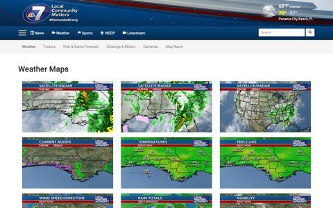 Screenshot of Maps & Directions Page wjhg.com - NewsChannel 7  | Panama City, FL | WJHG - Weather - Map Room - captured Dec. 14, 2018