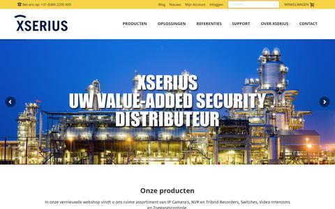Screenshot of Home Page xserius.nl - Xserius: Serious in Security | Xserius | Serious in Security - captured June 10, 2017